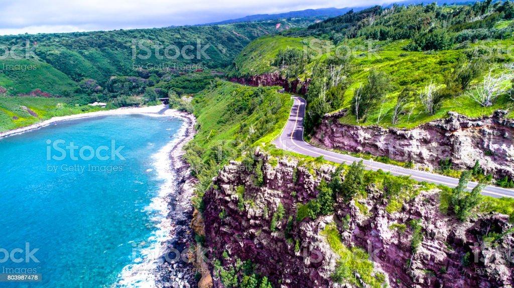 Road to Hana Hawaii stock photo