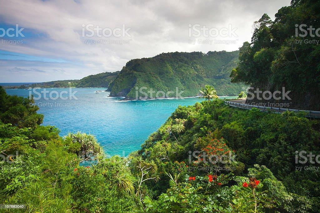 road to hana - maui .hawaii  Cliff Stock Photo