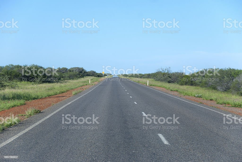 Road to horizon stock photo