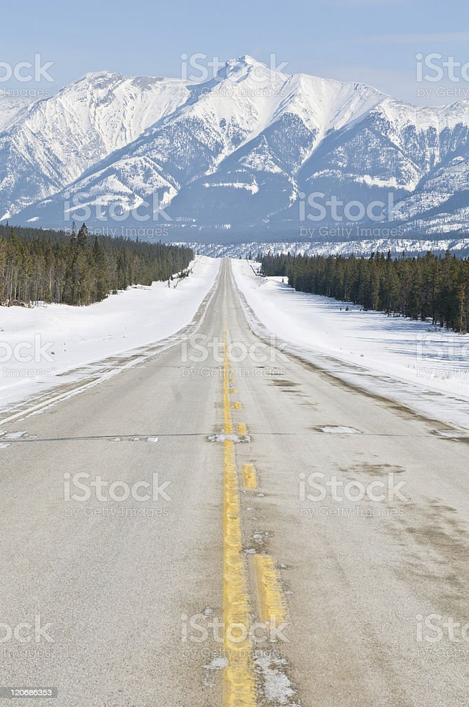 Road to infinity royalty-free stock photo