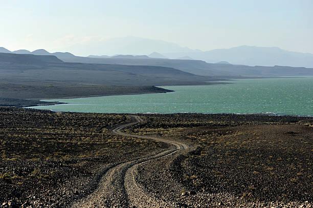 Road to Lake Turkana, Kenya stock photo