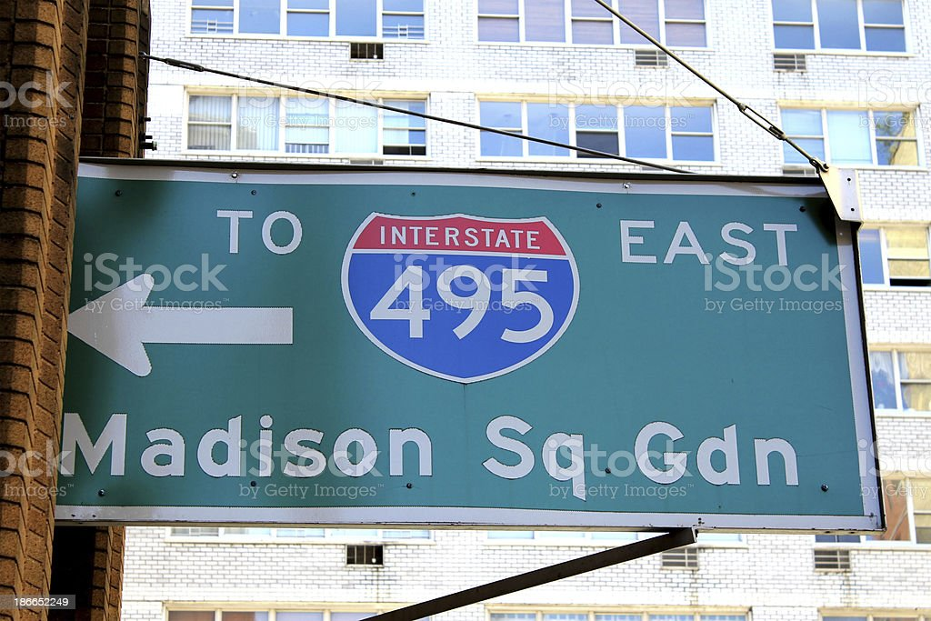 Road to Madison Square Garden stock photo