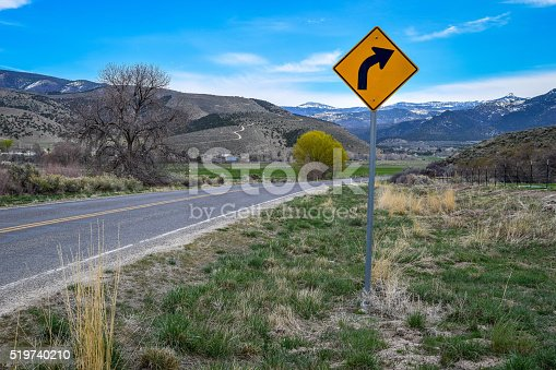 This is a photo of the road just before you get to Mayfield, Utah.