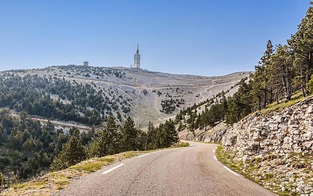 Road to Mont Ventoux stock photo