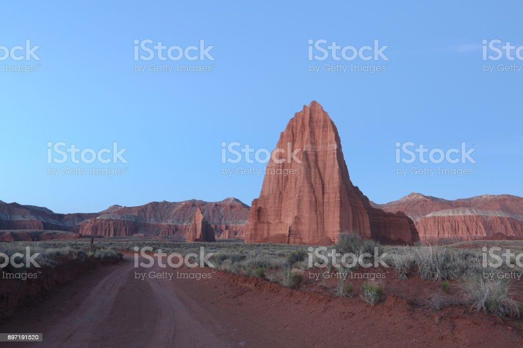 Road to Monument Valley in Arizona stock photo