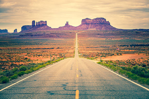 Road to Monument Valley, USA Landmark stock photo