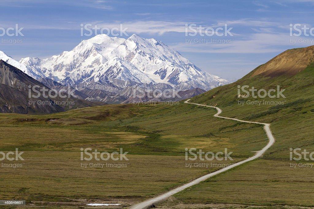 road to mount McKinley stock photo