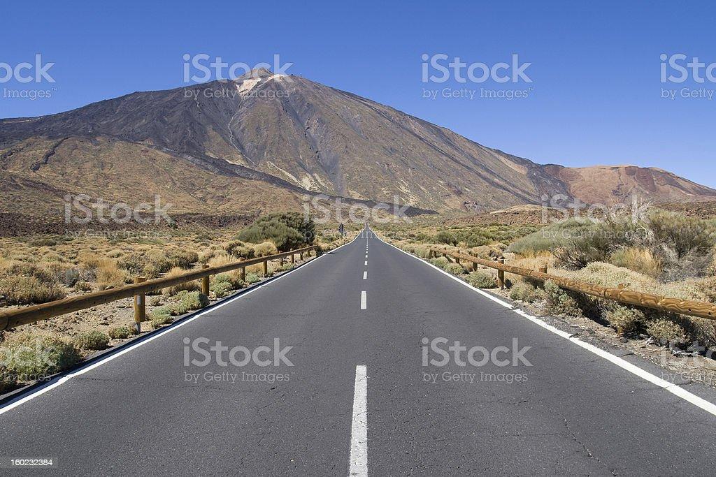 Road to Mount Teide royalty-free stock photo