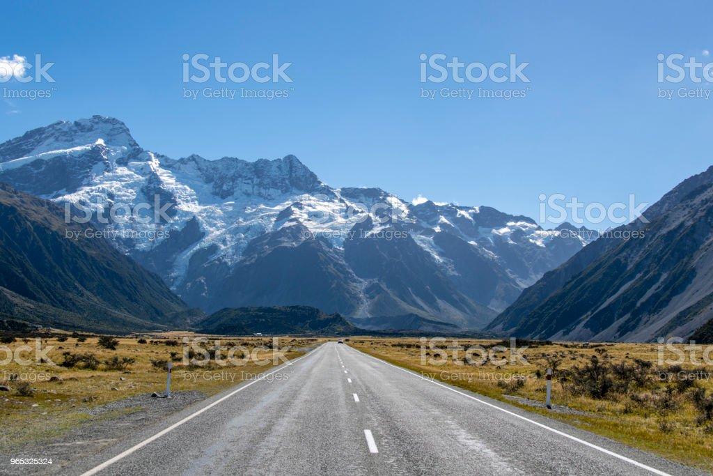 Road to Mt Cook National Park zbiór zdjęć royalty-free