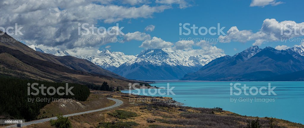 Road to Mt Cook stock photo