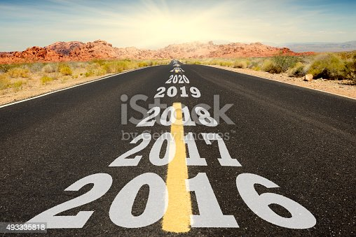 619522908istockphoto Road to New Year 2016 493335818