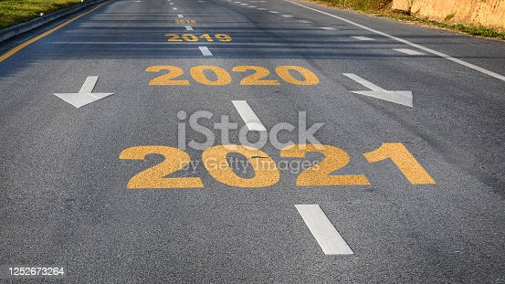873333520 istock photo Road to new year 2021 1252673264