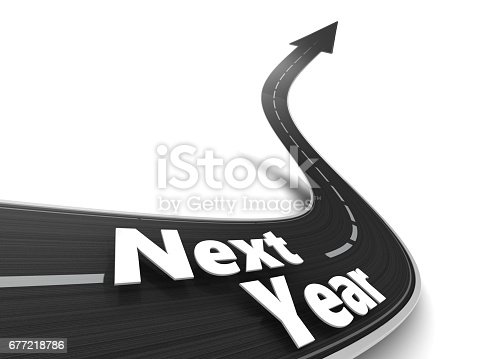 677206912 istock photo road to new year 677218786