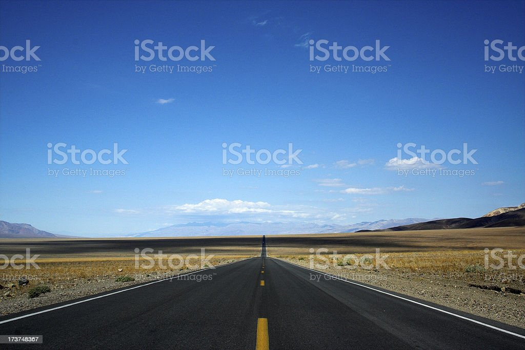 Road to Nowhere.  Death Valley 2 royalty-free stock photo