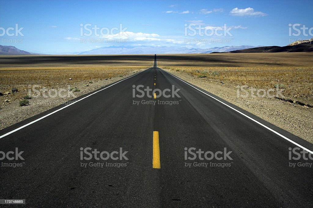 Road to nowhere.  Death Valley royalty-free stock photo