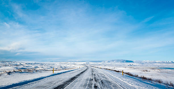 Road to Nowhere, Iceland stock photo
