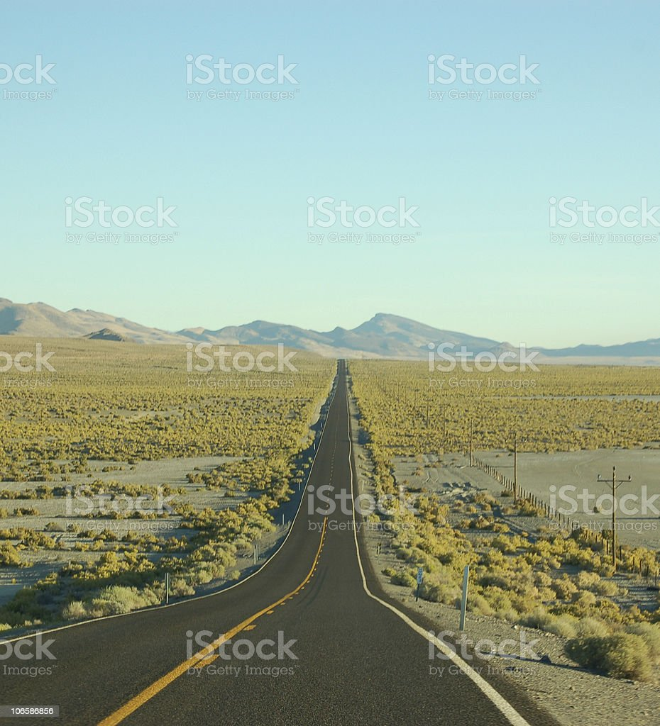 Road to nowhere stock photo
