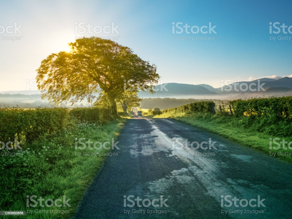 Road to Nowhere Back road leading into the Lorton Valley of the English Lake District. Cumbria Stock Photo