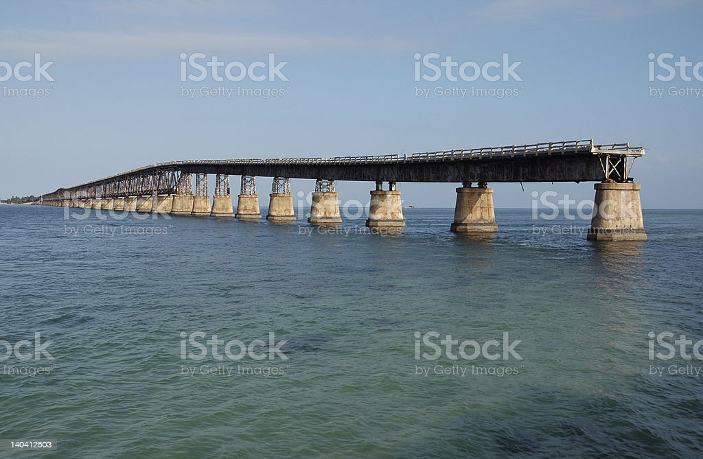 Road to nowhere - via bridge stock photo