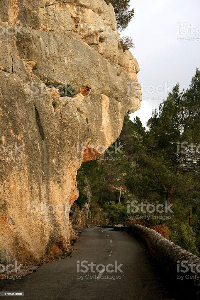 Road to Port de Valldemossa (Majorca, Spain) royalty-free stock photo