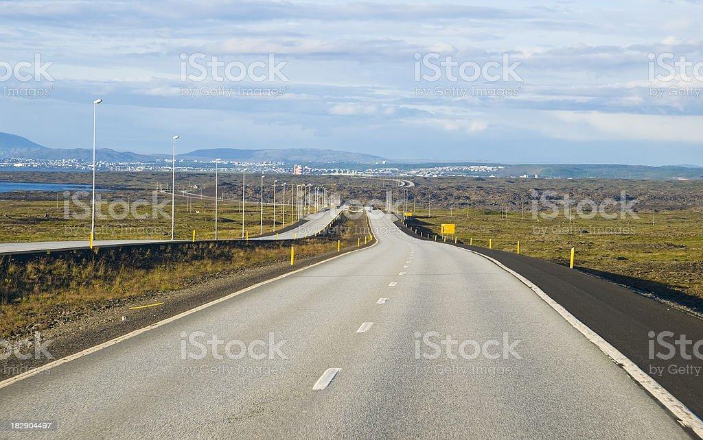 Road to Reykjavik royalty-free stock photo