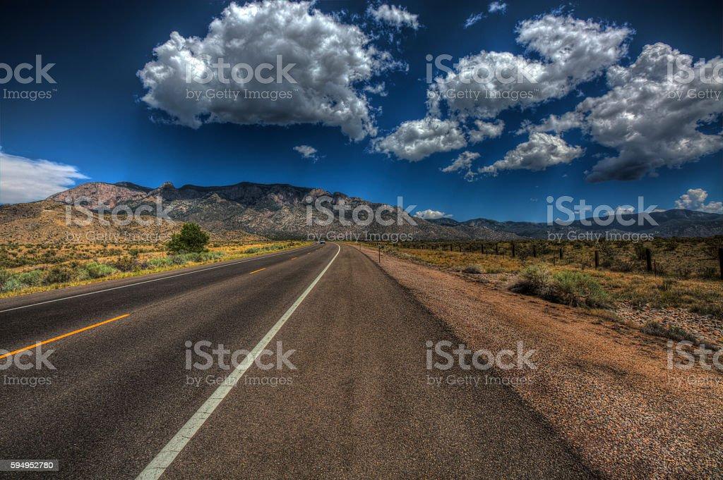 Road to Sandia stock photo
