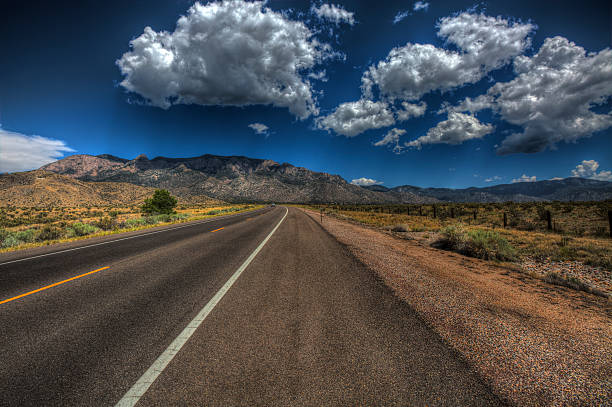 Road to Sandia stock photo
