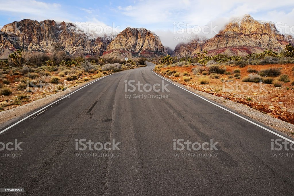 Road to Sandstone Hills royalty-free stock photo