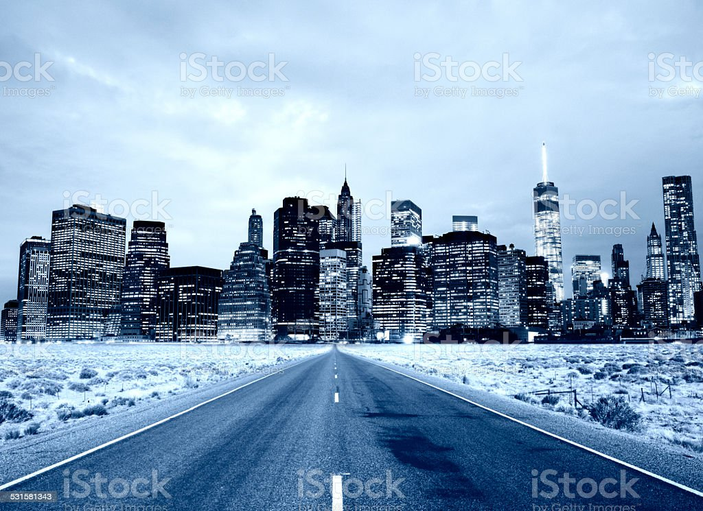Road To Success, NYC. stock photo