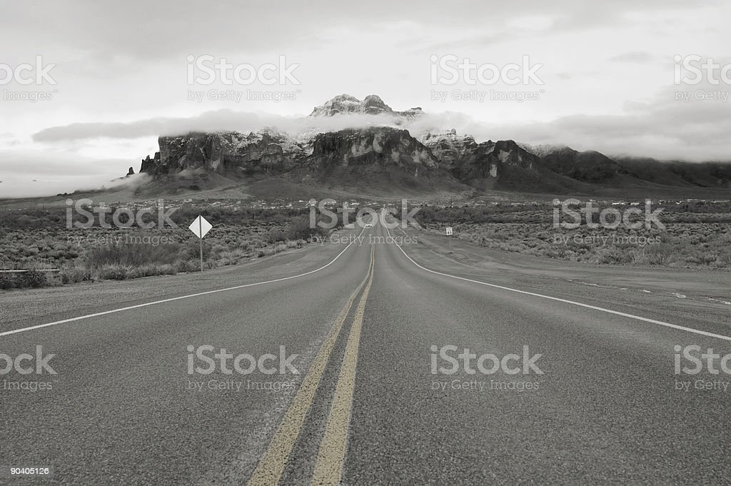 Road To Superstitions royalty-free stock photo