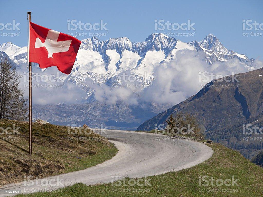 Road To Switzerland stock photo