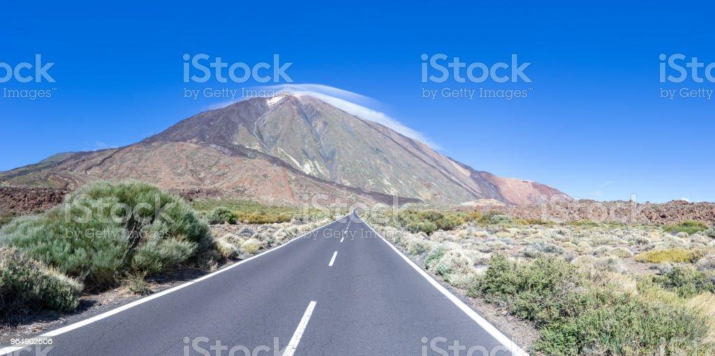 Teide 路 - 免版稅全景圖庫照片