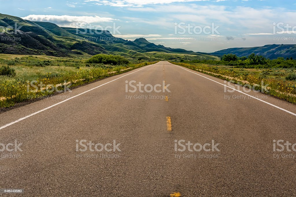 Road to the Badlands stock photo