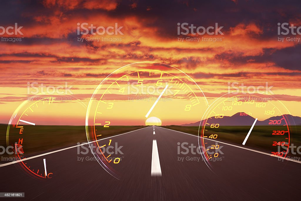 road to the burning clouds. royalty-free stock photo