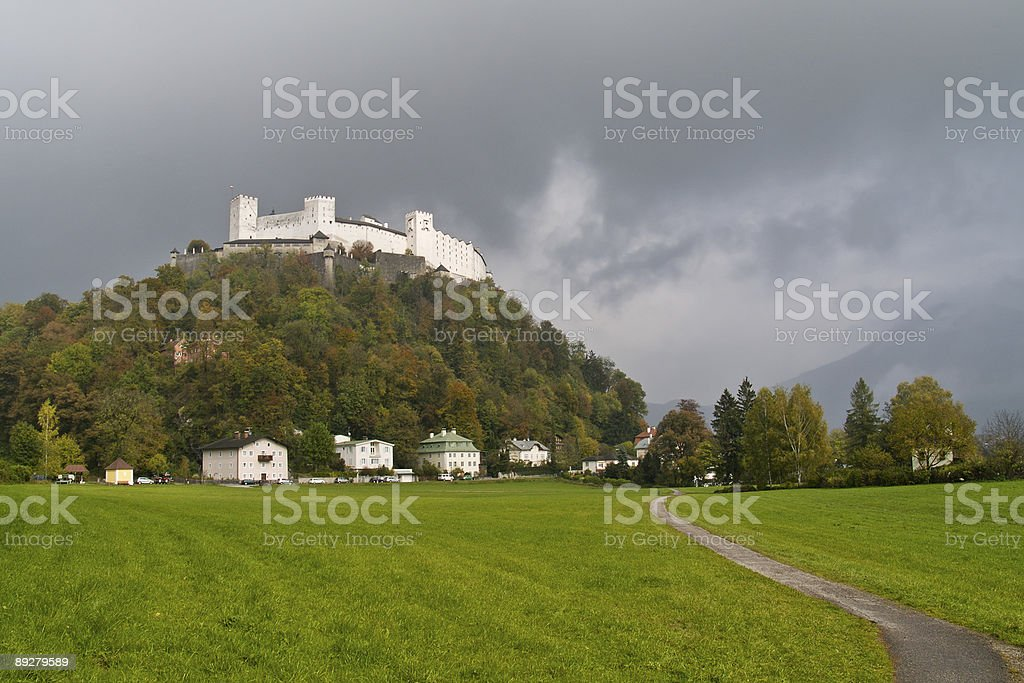 Road to the castle royalty-free stock photo