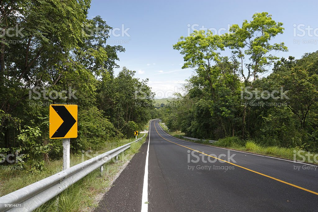 Road to the country royalty-free stock photo
