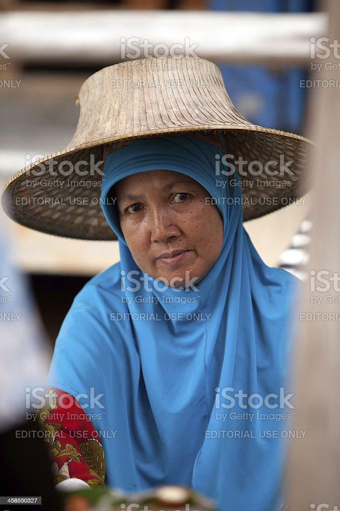 Road to the floating market, Thailand royalty-free stock photo