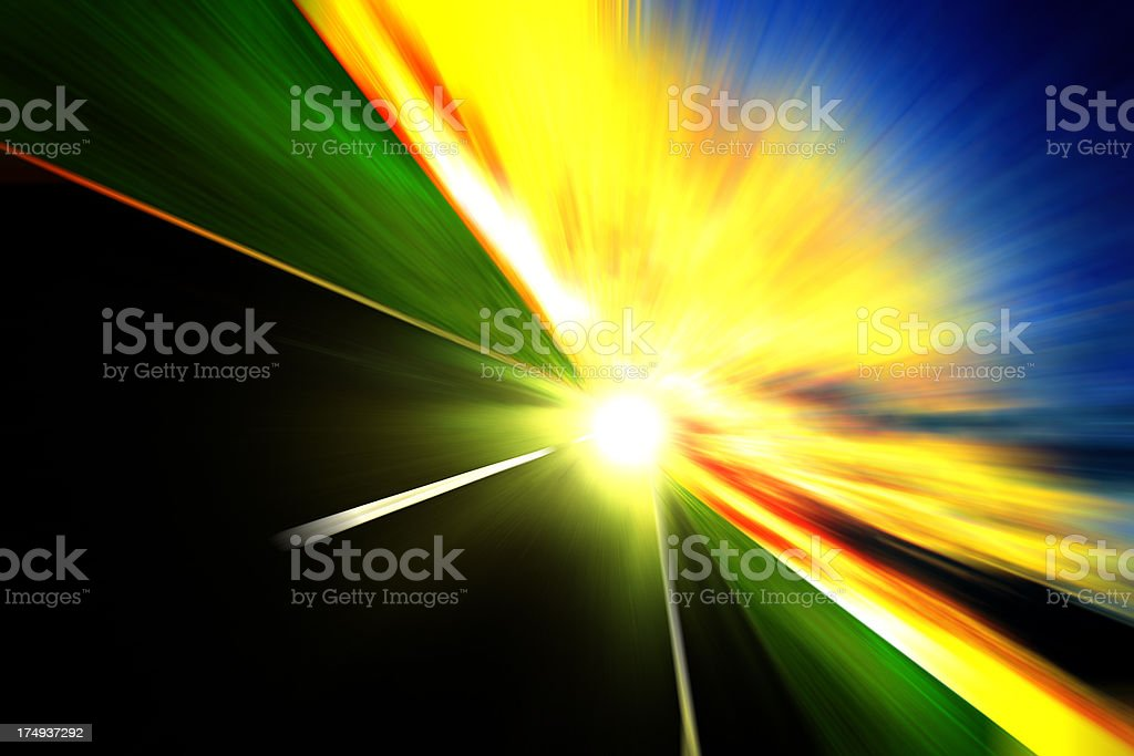 Road To The Future. Success and winning concept royalty-free stock photo
