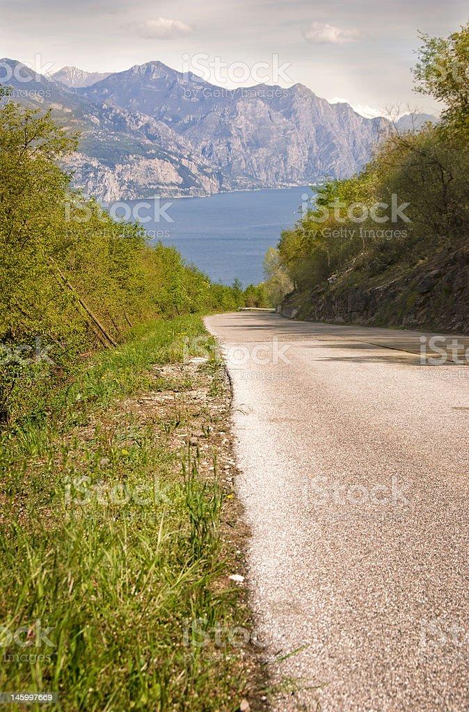 Road to the garda lake in Italy royalty-free stock photo