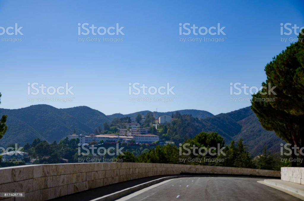 Road to the Getty museum stock photo