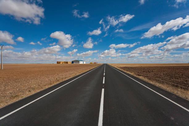 Road to the horizon stock photo