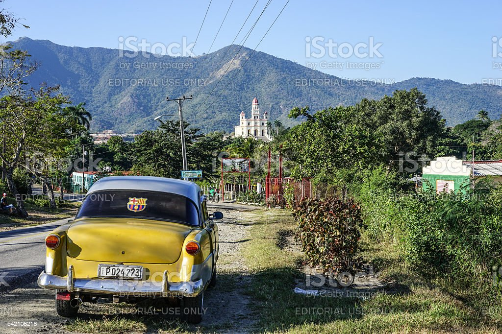 Road to the Lady of Charity El Cobre stock photo