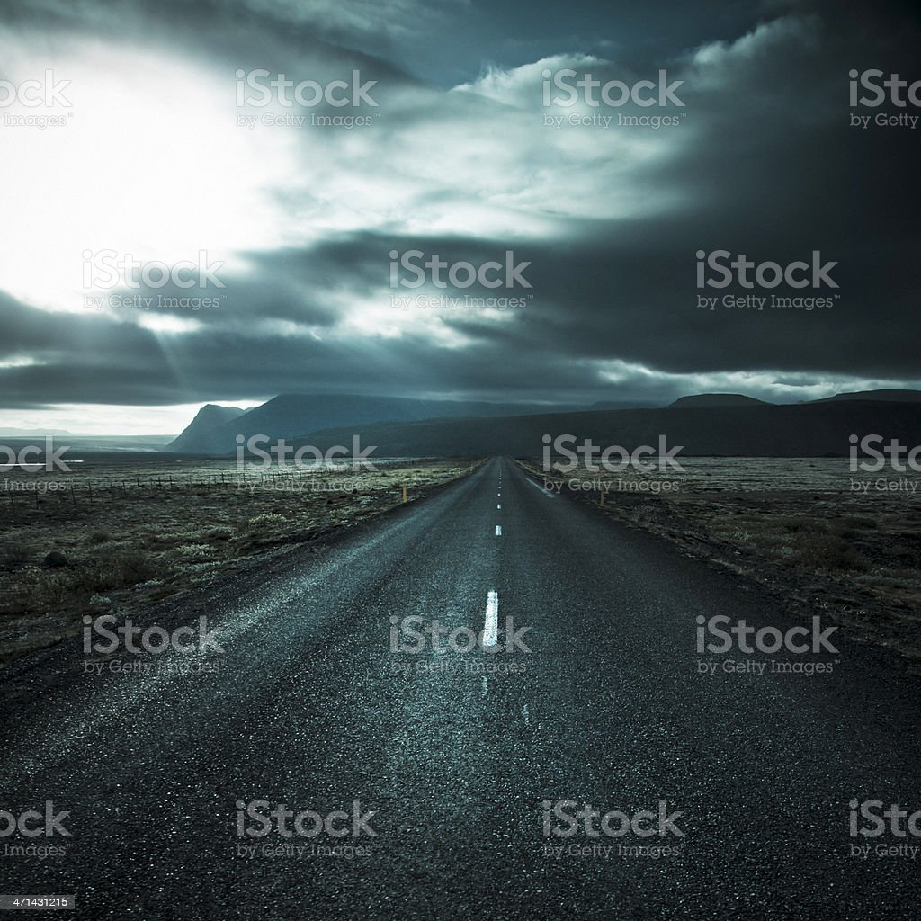 Road to the light royalty-free stock photo