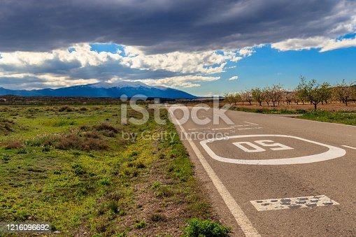 road to the moncayo's mountain