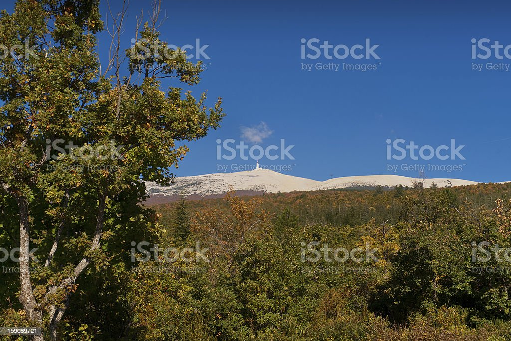 Road to the Mont Ventoux royalty-free stock photo