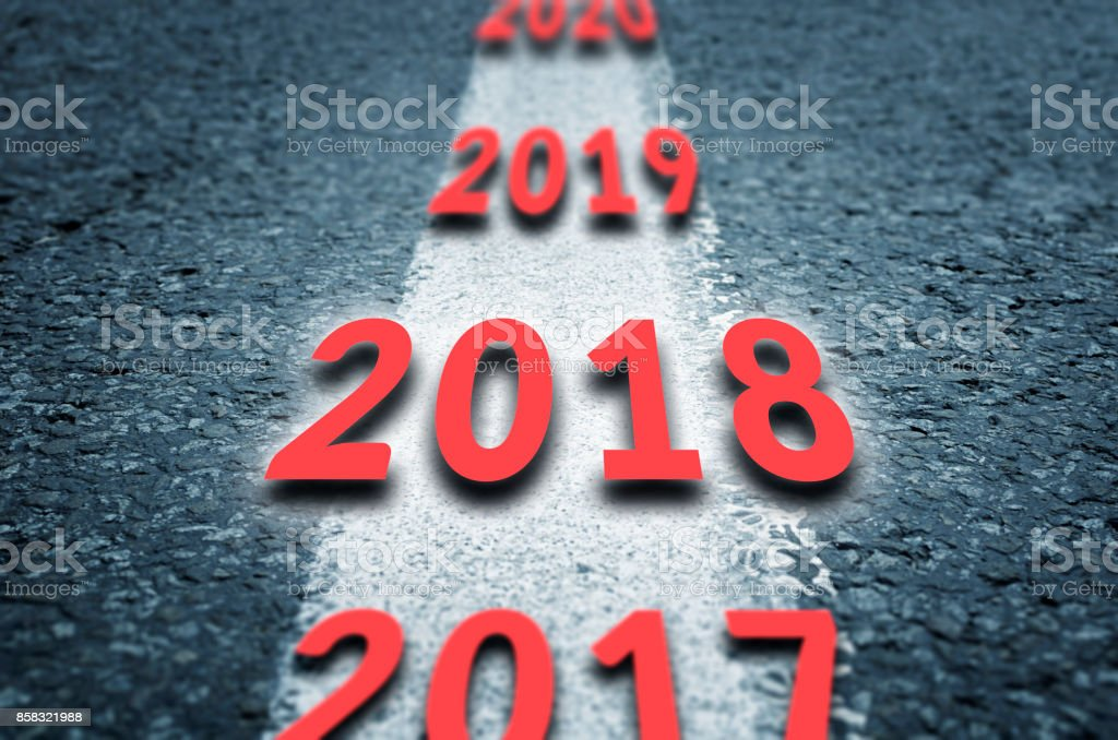 Road to the next years - Foto stock royalty-free di 2017