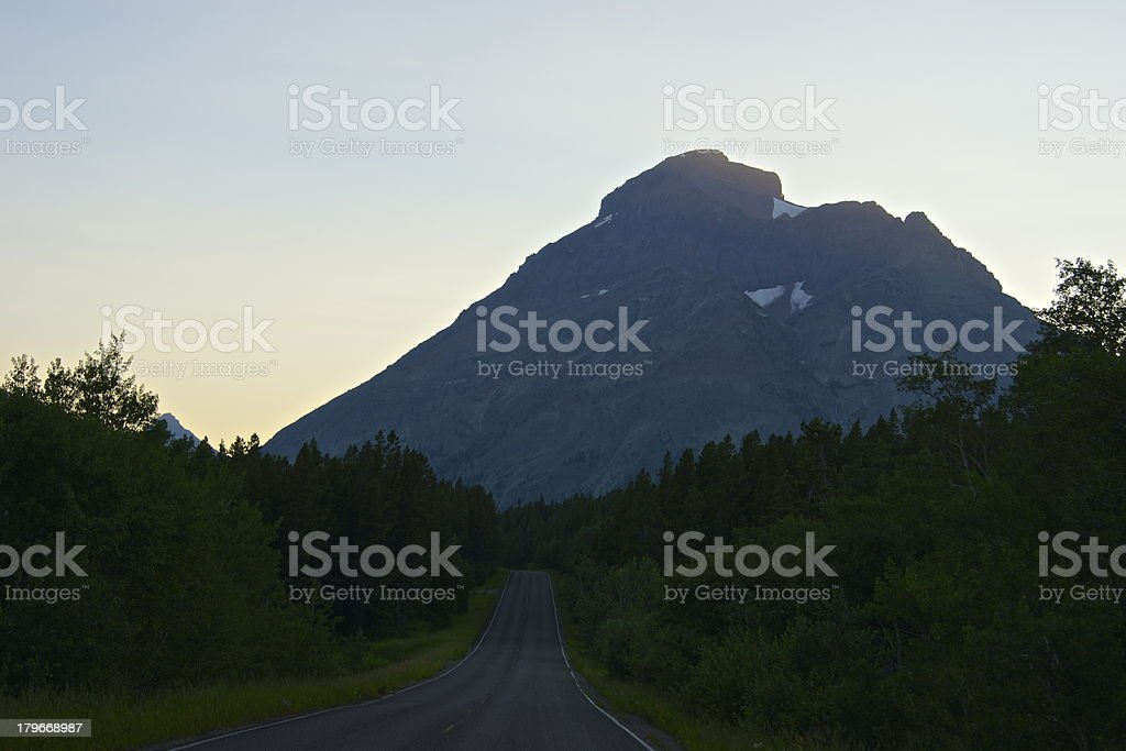Road To The Rising Wolf royalty-free stock photo