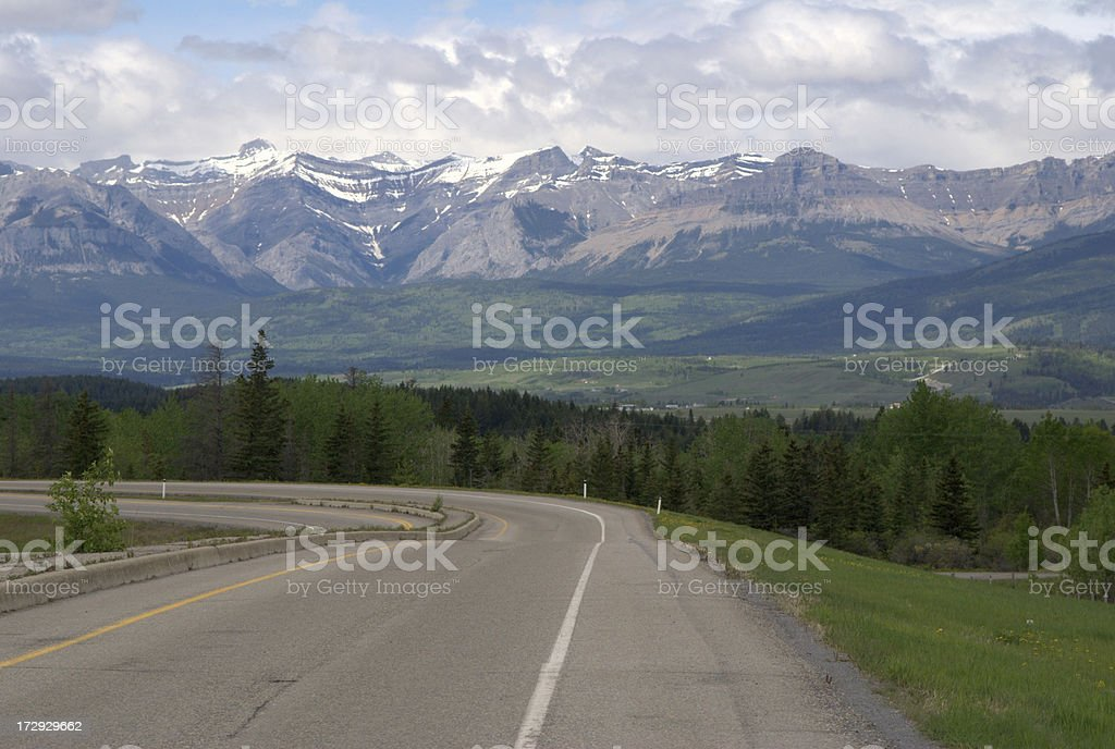 Road to the Rockies royalty-free stock photo