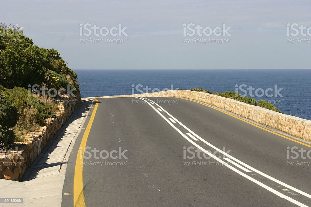 Road to the sea royalty-free stock photo