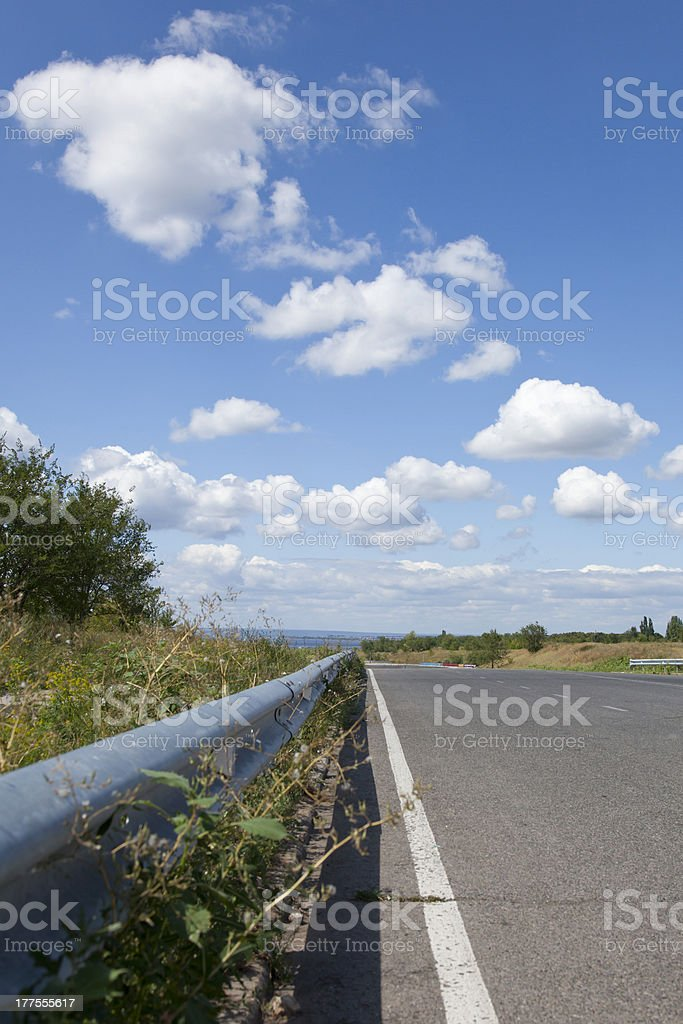 road to the sky and clouds royalty-free stock photo